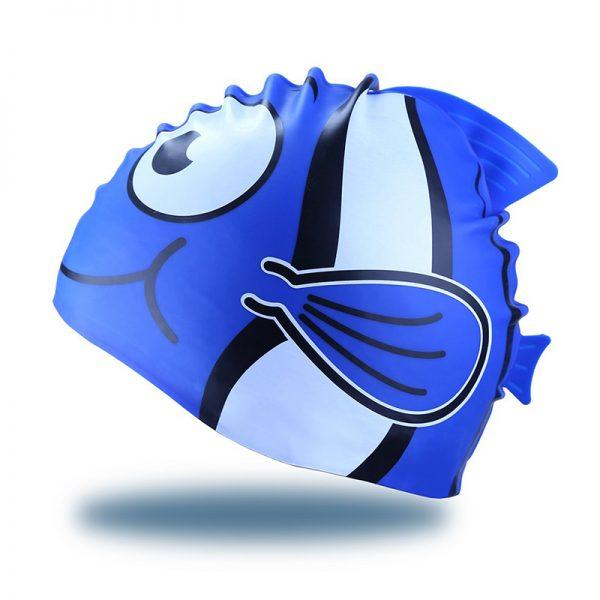 cartoon shark swim cap