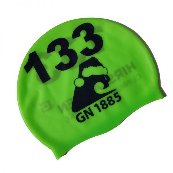 custom numbers swim cap