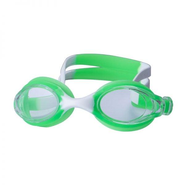 kids silicone swim goggles green