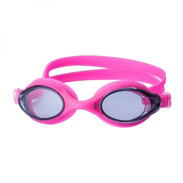 kids silicone swim goggles pink
