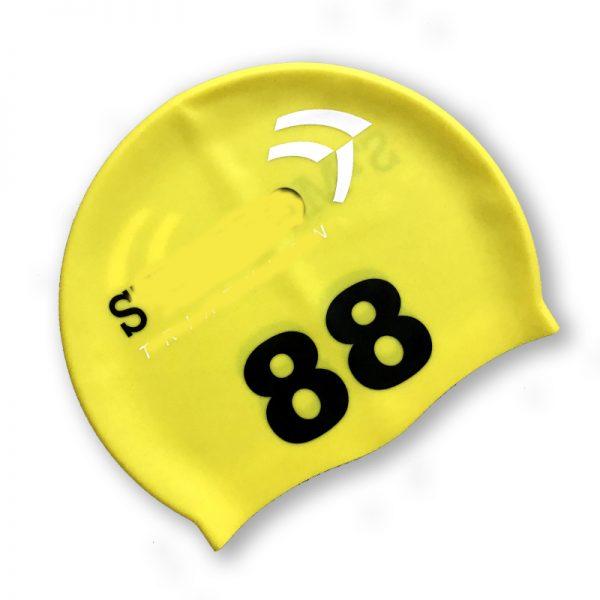 print numbers swim cap