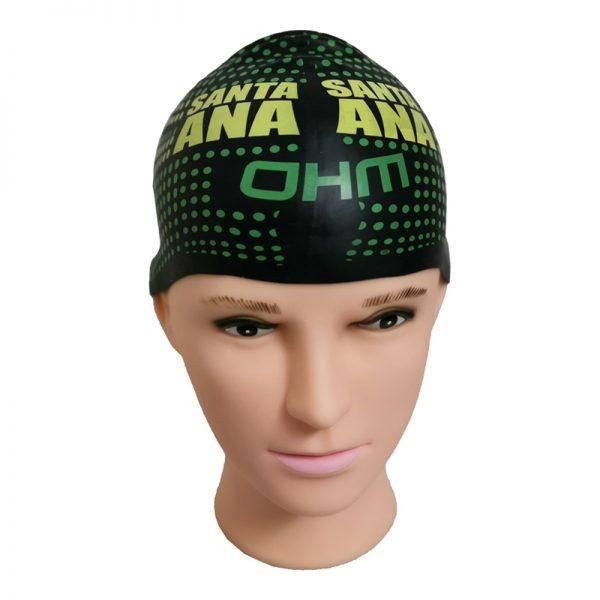 seamless silicone swim cap