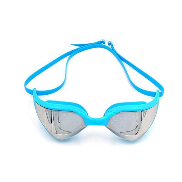 Blue Mirrored Swim Goggles
