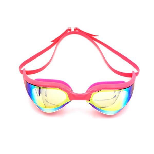 Pink Mirrored Swim Goggles
