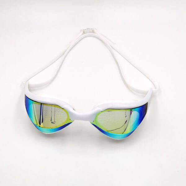 White Mirrored Swim Goggles