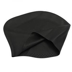 long hair swim cap black