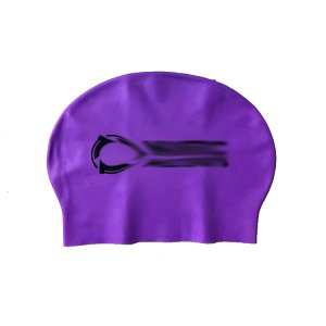 purple latex swim cap
