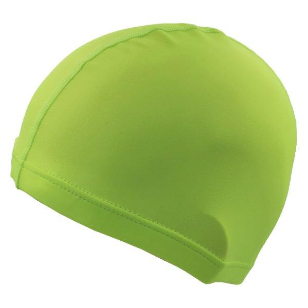 green lycra swim cap