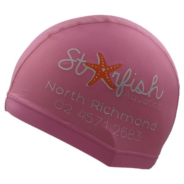 l pink lycra swim cap