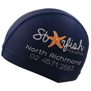 navy blue lycra swim cap