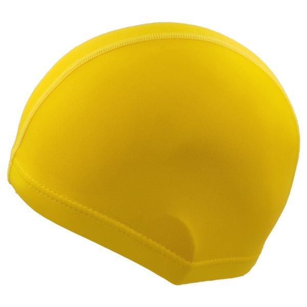 yellow lycra swim cap
