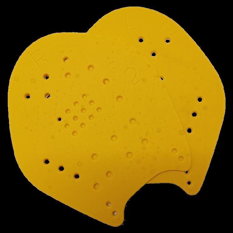 Yellow swim paddles
